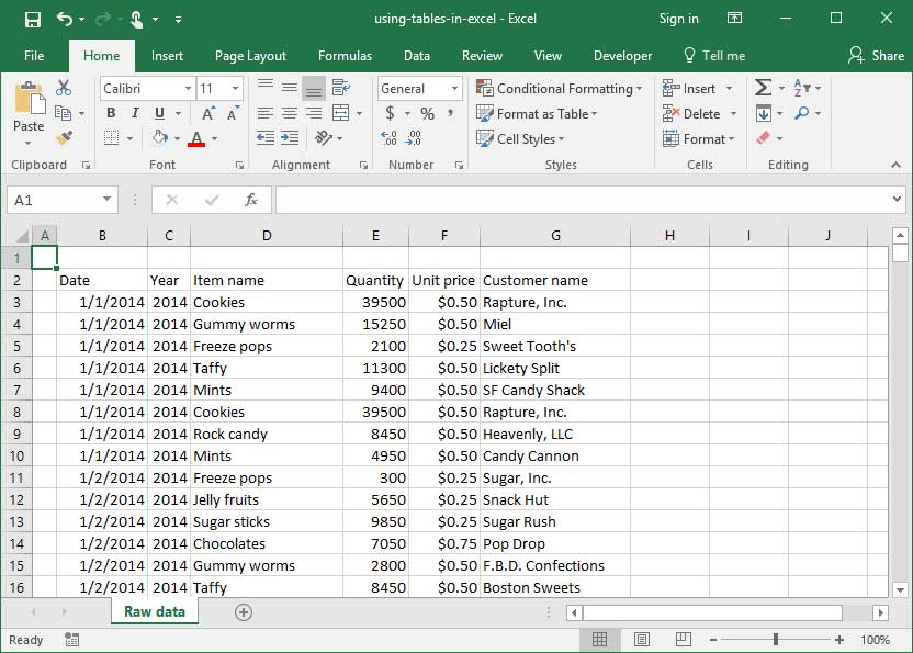 Using the Total cell style in Excel