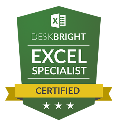 Excel Mastery Certification badge