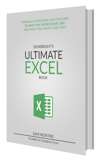 Deskbright's Ultimate Excel Book Cover